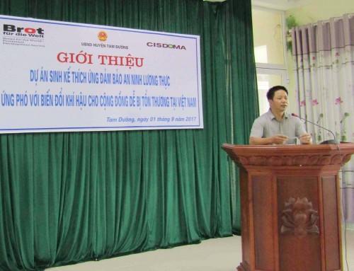 """Khởi động Dự án: """"Sinh kế thích ứng đảm bảo an ninh lương thực và ứng phó với biến đổi khí hậu cho cộng đồng dễ bị tổn thương tại Việt Nam"""""""