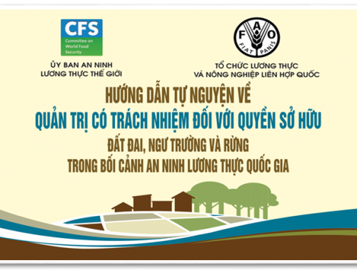 Vietnamese version of the FAO's Voluntary Guidelines on the responsible Governance of Tenures (VGGT) officially published